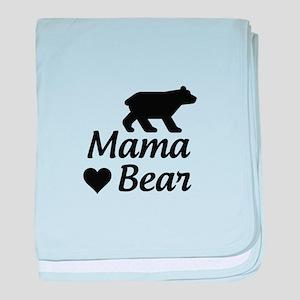 Mama Bear baby blanket