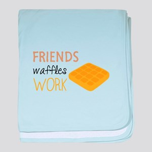 Friends Waffles Work baby blanket