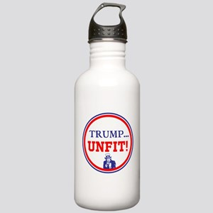 Trump is the unfit candidate Water Bottle