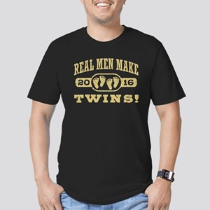 Real Men Make Twins 20 Men's Fitted T-Shirt (dark)