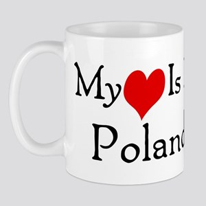 My Heart Is In Poland Mug