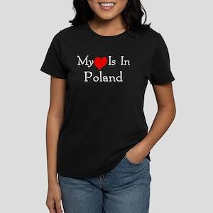 My Heart Is In Poland Women's Dark T-Shirt