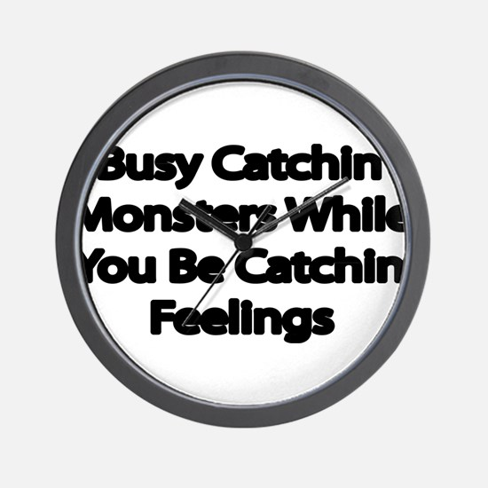 Busy catching Monsters Wall Clock