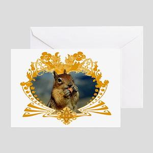 Squirrel Lover Art Crest Greeting Card