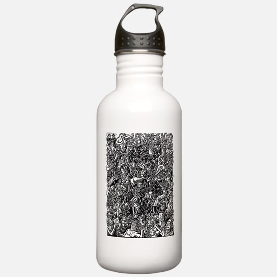 Black and White Wild P Water Bottle