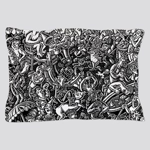 Black and White Wild Party Scene Pillow Case