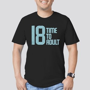 Time to Adult Blue Men's Fitted T-Shirt (dark)
