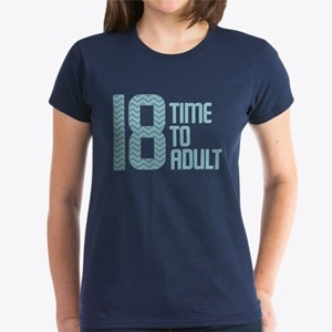 Time to Adult Blue Women's Dark T-Shirt