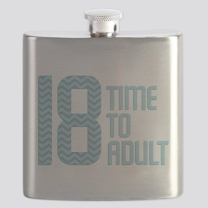 Time to Adult Blue Flask