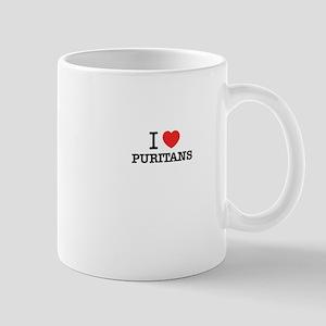 I Love PURITANS Mugs