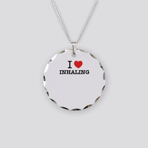 I Love INHALING Necklace Circle Charm