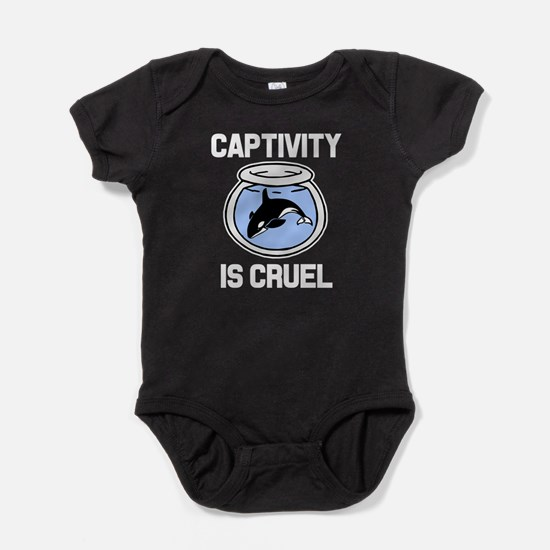 Captivity is Cruel, Free the Orca Wh Baby Bodysuit
