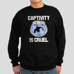 Captivity is Cruel, Free the Orc Sweatshirt (dark)