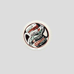 Eagle Raven Yin-Yang Mini Button