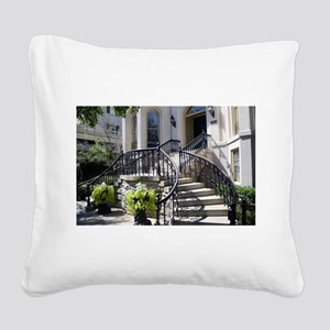 Grand Staircase Square Canvas Pillow