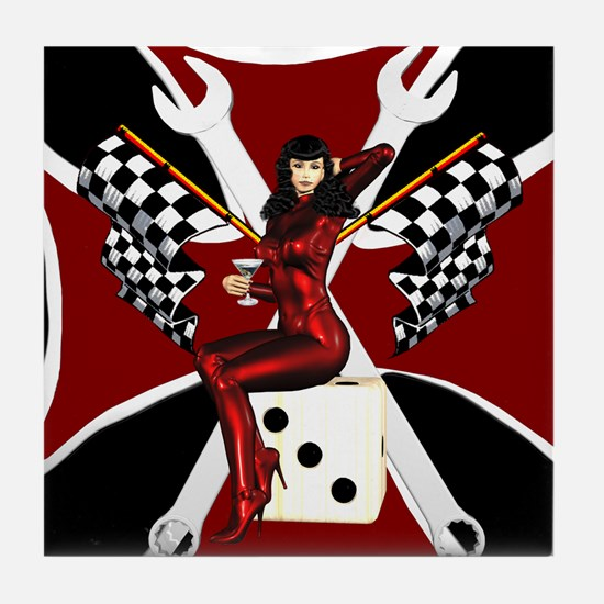 Bettie Page Style Tile Coaster