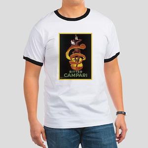 Bitter Campari Vintage Poster Ringer T