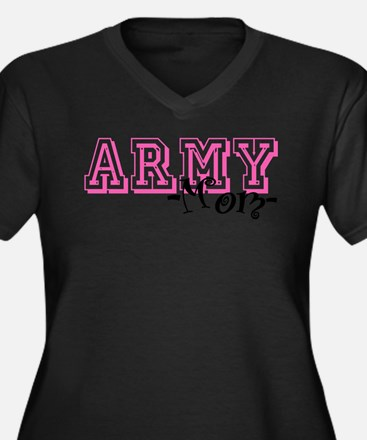 Army Mom - Jersey Style Plus Size T-Shirt