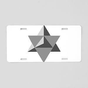 Star Tetrahedron Aluminum License Plate