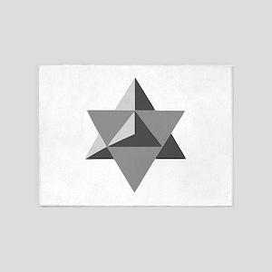 Star Tetrahedron 5'x7'Area Rug