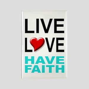 Live Love Have Faith Magnet (white)