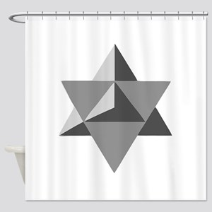 Star Tetrahedron Shower Curtain