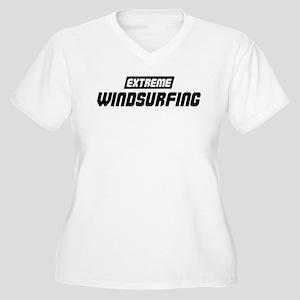 Extreme Windsurfing Women's Plus Size V-Neck T-Shi