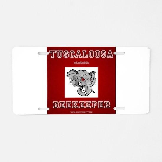 Tuscaloosa Beekeeper Aluminum License Plate