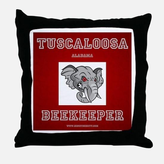 Tuscaloosa Beekeeper Throw Pillow