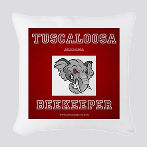 Tuscaloosa Beekeeper Woven Throw Pillow