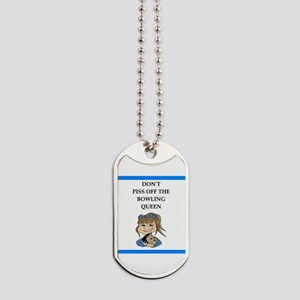 bowling Dog Tags