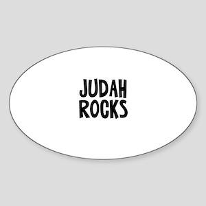 Judah Rocks Oval Sticker