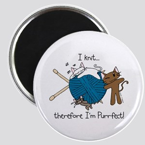 I knit ...purrfect Magnet