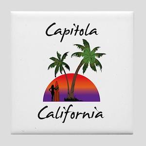 Capitola California Tile Coaster