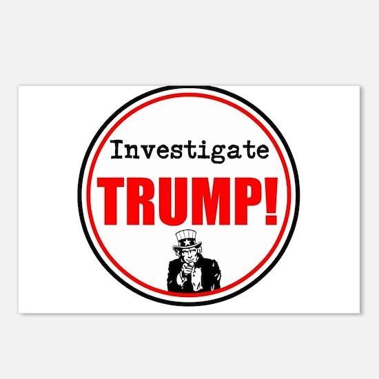 Investigate Trump, no Trump Postcards (Package of