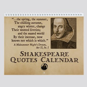 Shakespeare Quotes Wall Calendar