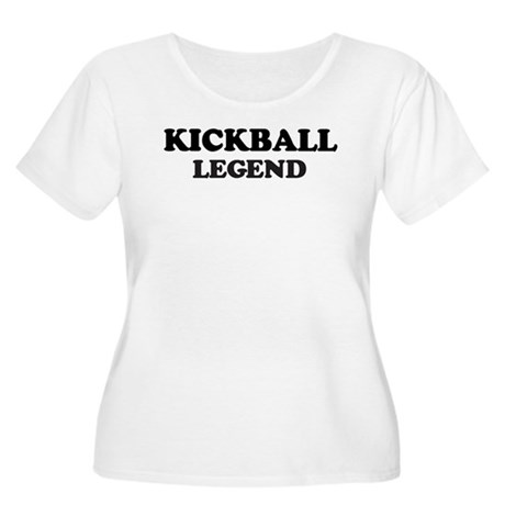 KICKBALL Legend Women's Plus Size Scoop Neck T-Shi