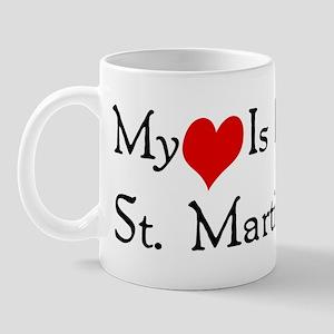 My Heart Is In St. Martin Mug