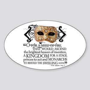 Henry V Oval Sticker
