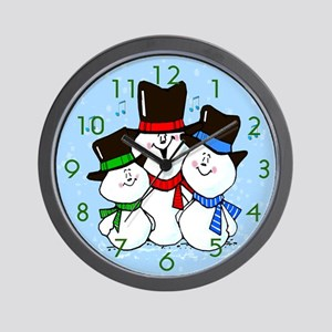 Gifts for Him 3 Singing Snowmen Wall Clock
