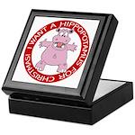 Hippo for Christmas Keepsake Box