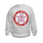 Hippo for Christmas Kids Sweatshirt