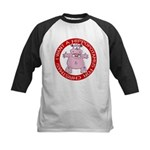 Hippo for Christmas Kids Baseball Jersey