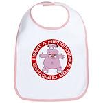 Hippo for Christmas Bib