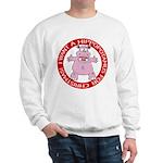 Hippo for Christmas Sweatshirt