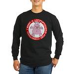 Hippo for Christmas Long Sleeve Dark T-Shirt