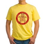 Hippo for Christmas Yellow T-Shirt