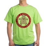 Hippo for Christmas Green T-Shirt