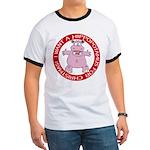 Hippo for Christmas Ringer T