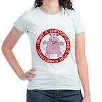 Hippo for Christmas Jr. Ringer T-Shirt